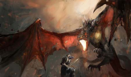 epic fantasy battle